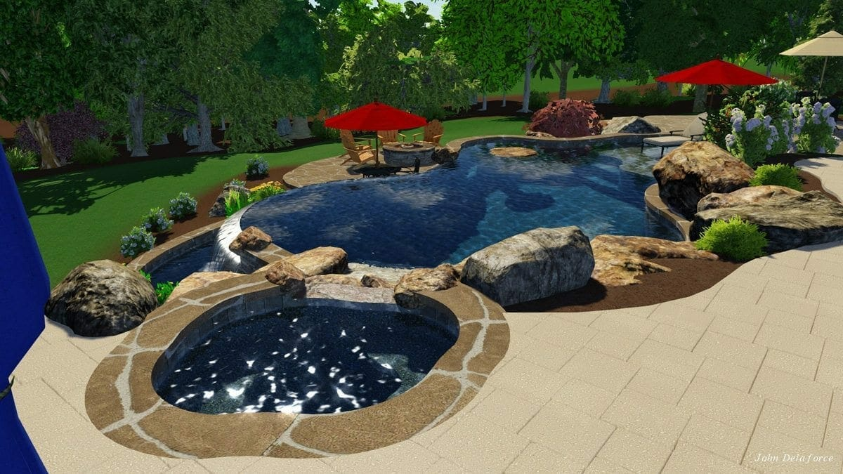 Custom pool builders in raleigh nc blue haven raleigh for Pool design raleigh nc