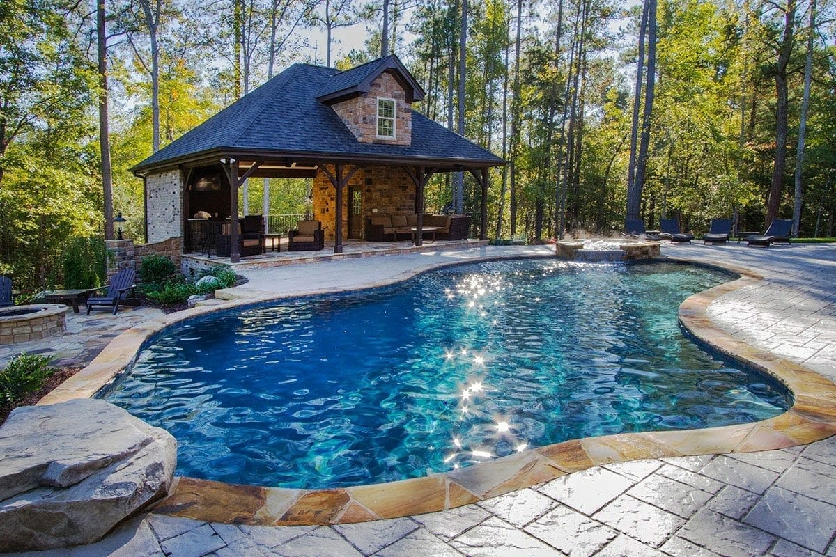 Custom pool builders in raleigh nc blue haven raleigh for Custom pool builder