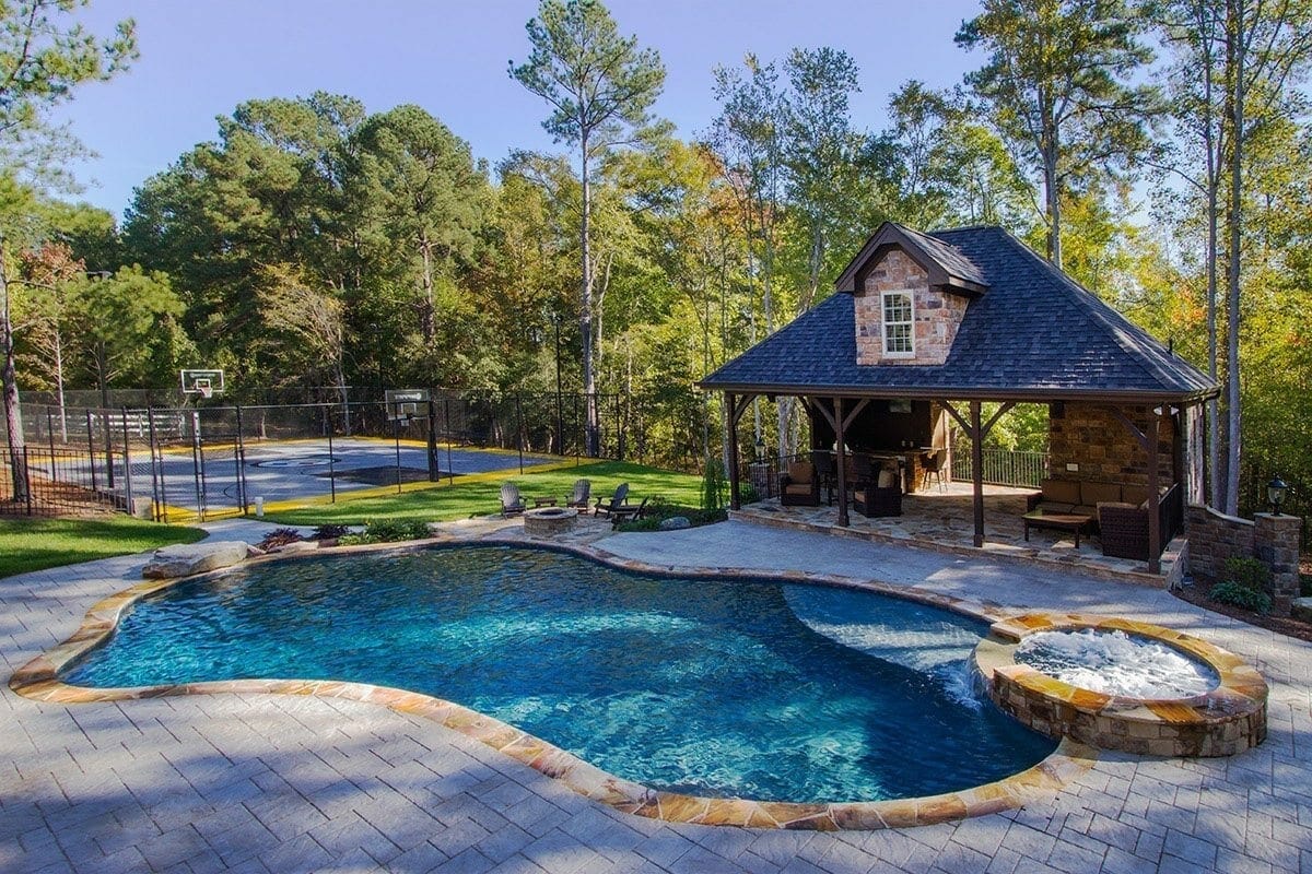 The yelverton custom pool project blue haven raleigh for Pool design raleigh nc