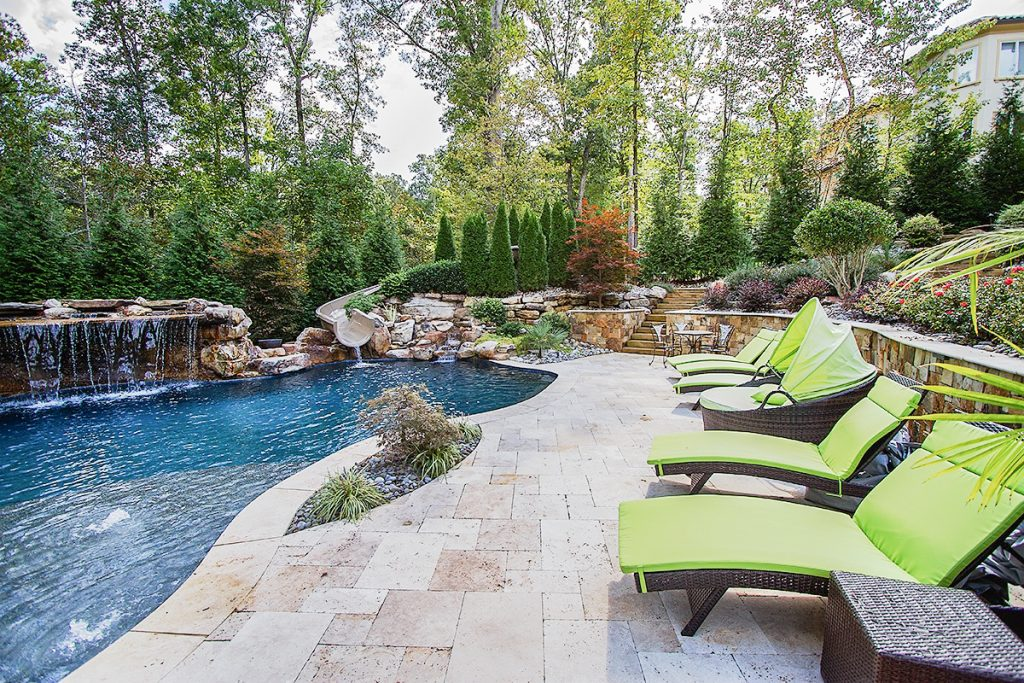 Cary, NC Custom Pool & Hardscape Installation - Case Study