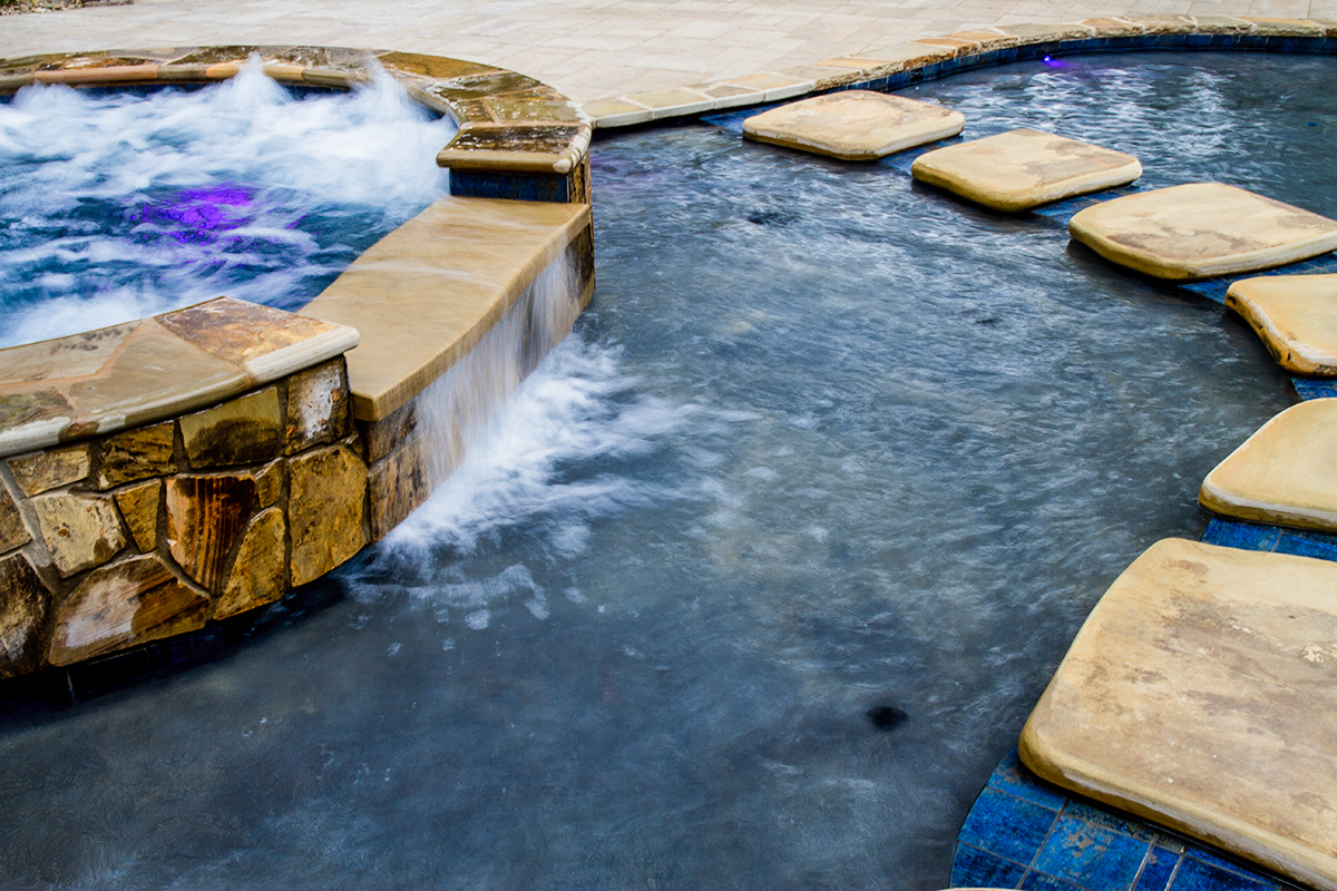custom-designed natural pools